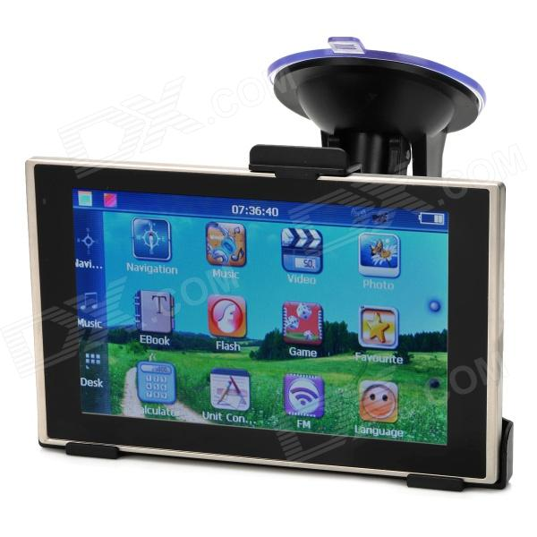 BT-504 5 TFT Resistive Win CE 6.0 Car GPS Navigator w/ 4GB ROM / IGO Brazil Map - Black gps навигатор какой igo
