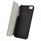AZNS moda PU Leather flip-aberto + Case plástico para Iphone 5 - Preto