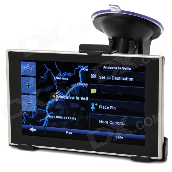 BT-858 5 Win CE 6.0 MT3551 GPS Navigator w/ 4GB ROM / IGO EU Map / TF - Black + Silver gps навигатор какой igo
