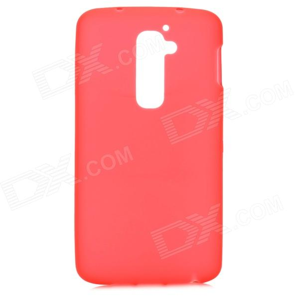 Stylish Simple Palin Protective TPU Back Case for LG G2 - Red