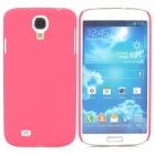 Simple Stylish Quicksand Plastic Back Case for Samsung Galaxy S4 i9500 - Deep Pink