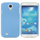 Simple Stylish Quicksand Plastic Back Case for Samsung Galaxy S4 i9500 - Sky Blue