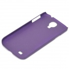 Simple Stylish Quicksand Plastic Back Case for Samsung Galaxy S4 i9500 - Purple