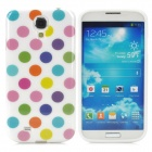 Fashionable Polka Dot Pattern Shock-proof Silicone Back Case for Samsung S4 i9500 - Multicolored