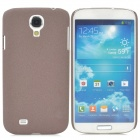 Simple Stylish Quicksand Plastic Back Case for Samsung Galaxy S4 i9500 - Coffee