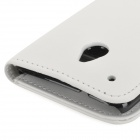 Protective PU Leather Case for HTC One Mini M4 - White