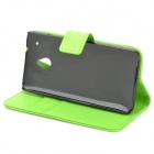 Protective PU Leather Case for HTC One Mini M4 - Green
