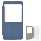 Protective Flip-open Plastic + PU Leather Case for Samsung Galaxy Note 3 N9000 - Blue