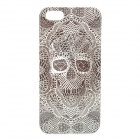 Skull Style Protective ABS Back Case for Iphone 5S - Black + White
