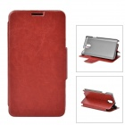 A006-3 Protective PU Leather Case w/ Magnet / Stand / Card Slots for Samsung Note3 - Brown