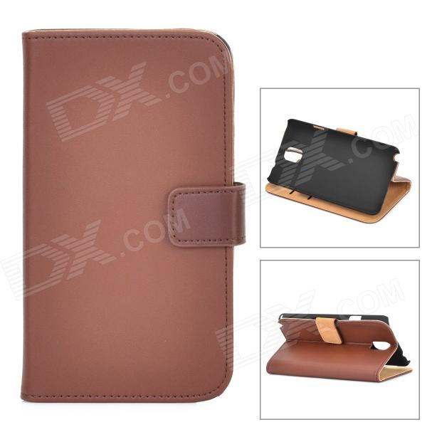 Protective Case w/ Card Holder Slots for Samsung Galaxy Note 3 N9000 / N9005 / N9002 - Brown new big brothers money cigarette card case box holder