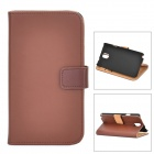 Protective Case w/ Card Holder Slots for Samsung Galaxy Note 3 N9000 / N9005 / N9002 - Brown