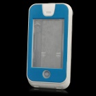 Waterproof Shockproof Pressure-resistant PC + TPU + Silicone Case for Iphone 4S / 4 - Sky Blue