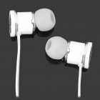 DONSCORPIO Bass Colour Stylish In-Ear Earphone for Iphone / Ipad / Ipod / Samsung - White + Silver