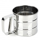 Cup Style Stainless Steel Flour Sifter - Silver