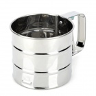 Stainless Steel Mesh Flour Sifter Cup Shape Shaker Sieve - Silver