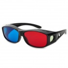 CARSHIRO D282 Plastic Frame Left Red + Right Blue 3D Stereo Glasses - Black