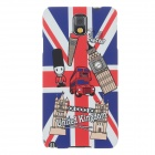 UMKU British Flag Protective Plastic Back Case for Samsung Galaxy Note 3 N9000 - Red + Blue + White
