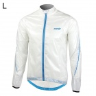 Santic MC07003W Anti-UV Windproof Jacket Coat for Men - White (L)
