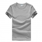 Men's Comfortable Simple Plain Cotton T-shirt - Grey (XXL)
