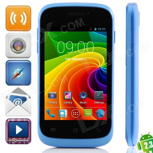 """S1 MTK6572 Dual-Core Android 2.3.6 WCDMA Bar Phone w/ 3.5"""", Wi-Fi, FM and GPS - Black + Blue"""