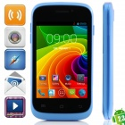 "S1 MTK6572 Dual-Core Android 2.3.6 WCDMA Bar Phone w/ 3.5"", Wi-Fi, FM and GPS - Black + Blue"