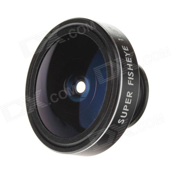 Lesung CP-18 Universal 185 Degree Clip-on Super Fisheye Lens for Mobile Phone / Tablet PC - Black - DXLens &amp; Microscopes<br>Brand Lesung Model CP-18 Quantity 1 Piece Color Black Material High-quality aluminum alloy + Multi-Optical glass Compatible Models Universal Lens Effects Fish eye Other Features Clip-on 180 degree fish eye; With this lens you can capture images with a wide range of 185 degree; Welcome to an amazing world of fish-eye images. You can enjoy unrealistic supper fish-eye world of images. This package of clip and lens fits all mobile phones with a CMOS smaller or equal to 9mm. All accessories are included in the package and no special fixing is required. Packing List 1 x Fish-Eye lens 1 x Lens cap 1 x Clip 1 x Pocket 1 x Chinese / English user manual<br>