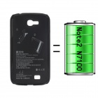 2400mAh External Polymer Battery Back Case for Samsung Galaxy Note 2 N7100 - Black