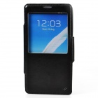 Dikuka Protective PU Leather + TPU Case Stand w/ Visual Window for Samsung Galaxy Note 3 - Black