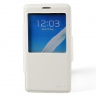 Dikuka Protective PU Leather + TPU Case Stand w/ Visual Window for Samsung Galaxy Note 3 - White