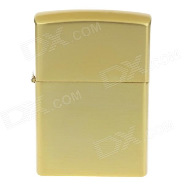 1004F Cool Style Amazing and Biger Zine Alloy Oil Lighters - Golden