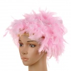 Fire Chicken-Feather Wig for Halloween / Costume Party - Pink