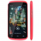 K-Touch U9 Dual-Core GSM / WCDMA Cell Phone w/ 4.5'', 512MB RAM, 4GB ROM, Dual SIM - Deep Pink