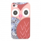 Owl Pattern Protective TPU Back Case for Iphone 4S - Multicolored