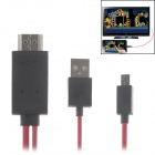 MHL Micro USB to HDMI HDTV Adapter Cable for Samsung Galaxy S3 i9300 / S4 i 9500 / Note 2 - Red
