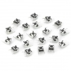 TS-038 0.5A 250V Phosphor Bronze + Plastic Switches - Silver + Black (20 PCS)
