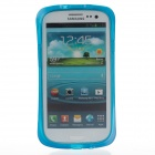 Newtop Protective Soft TPU Back Case for Samsung Galaxy S3 / i9300 - Translucent Blue