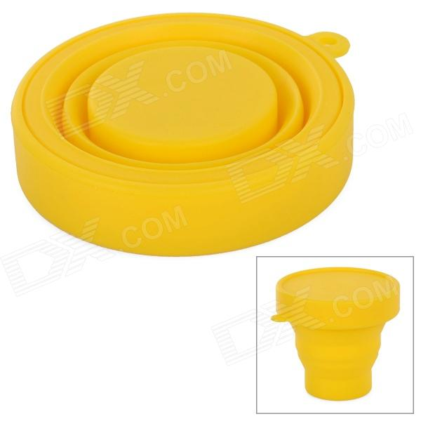 Outdoor Portable Silicone Telescopic Cup - Yellow (170mL)