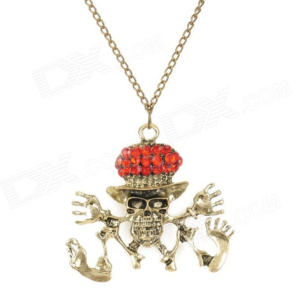 MYL-1 Pirate Skull Style Zine Alloy Pendant Necklace - Bronze + Red bmbe табурет pirate