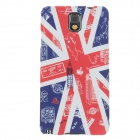 UMKU British Flag Protective Plastic Back Case for Samsung Galaxy Note 3 - Red + Blue + White