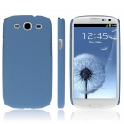 ENKAY Quicksand Style Protective Plastic Back Case for Samsung Galaxy S3 i9300 - Blue