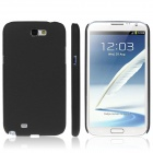 ENKAY Quicksand Style Protective Plastic Back Case for Samsung Galaxy Note 2 / N7100 - Black