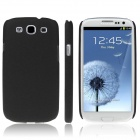 ENKAY Quicksand Protective Plastic Back Case for Samsung Galaxy S3 i9300 - Black
