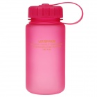 UZSPACE High-Quality Leak-Proof Frosted Colorful Bottle w/ Filter Cover - Deep Pink (350mL)