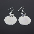 Circular Style 925 Silver Women's Earrings - Silver (Pair)