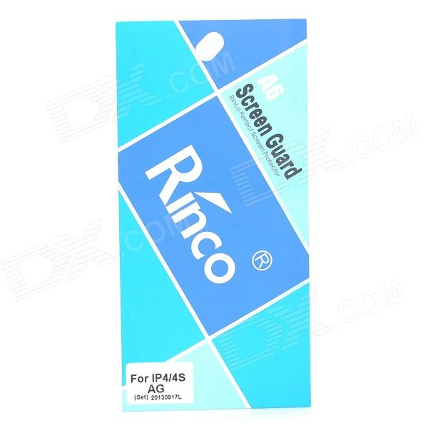 Rinco Protective Front + Back Matt Schutzfolie für iPhone 4 / 4S - Transparent (2 PCS)