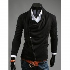 REVERIEUOMO WY30 Fashionable Men's Leisure Knit Cardigan - Black (Size-L)