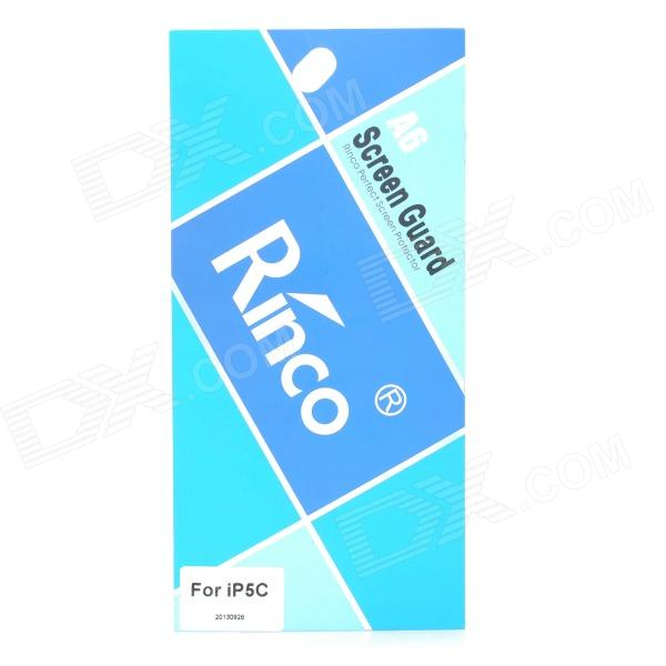 Rinco Protective ARM Clear Front Screen + Back Guard Films Set for Iphone 5C - Transparent fema front back 6d colorful laser tempered glass screen films for iphone 6s plus 6 plus rainbow triangles