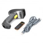 2.4GHz Wireless Handheld Laser Barcode Scanner Gun - Negro + Amarillo