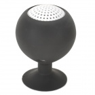 Portable Rechargeable Mini Speaker w/ Suction Cup for Iphone / Ipad - Black (3.5mm / 5V)